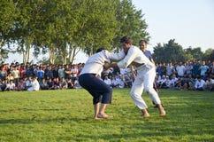 Туркмен wrestling в Стамбуле Стоковое Изображение RF