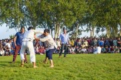 Туркмен wrestling в Стамбуле Стоковые Фотографии RF