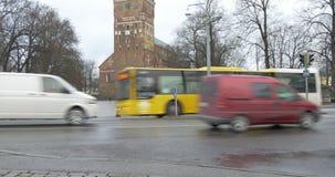 Турку, Финляндия - вид на город сток-видео