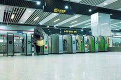 Турникеты в метро Стоковые Фото