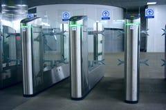 турникет метро стоковое изображение rf