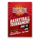 Турнир баскетбола, современный дизайн плакатов спорт Стоковая Фотография