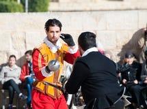 Турнир в кавалеристе St. Johns замка, Мальта Стоковое Изображение
