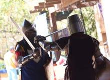 турнир 2 рыцарей Стоковое Фото