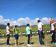 Турнир Archery Стоковые Изображения RF