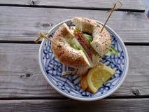 Турция все сандвич бейгл Стоковые Изображения RF