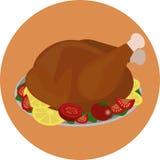 Турция зажаренная в духовке изображением Стоковое Изображение