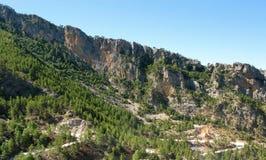 Турция. Зеленый каньон. Горные склоны Стоковая Фотография