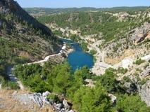 Турция. Зеленый каньон Стоковое Фото