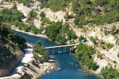 Турция. Зеленый каньон Стоковое Изображение
