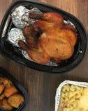 Турция с сладкими картофелями и макарон сыра Стоковое Фото