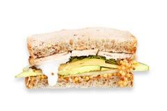 Турция, чеддер, и зеленый сандвич яблока Стоковое Изображение RF