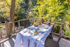 Турция, Kocaeli, Masukiye популярное назначение для еды и тратить времени стоковые изображения