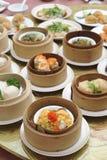 Тусклая сумма, азиатское меню кухни Стоковое Изображение
