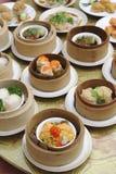Тусклая сумма, азиатское меню кухни Стоковые Изображения