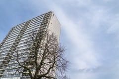 Тухлое inDuisburg архитектуры здания небоскреба Стоковое фото RF