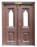Тухлая дверь года сбора винограда коричневого цвета кривой Стоковое Изображение
