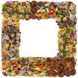 Тухлая рамка фото еды Стоковое Фото
