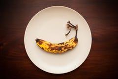 Тухлый старый банан Стоковая Фотография RF