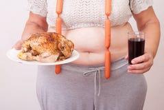 Тучная женщина Стоковая Фотография RF