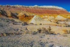 Тучные горы Aktau Национальное ` Altyn Emel ` природного парка kazakhstan Стоковая Фотография