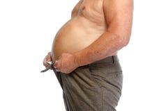 Тучный живот человека Стоковые Изображения