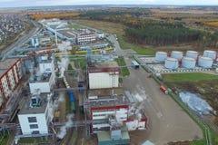 тучный завод Фабрика для обрабатывать сало и масло Промышленное производство еды стоковое фото rf