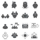 Тучный комплект значка людей иллюстрация вектора