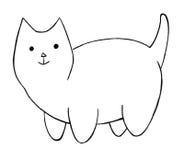 тучный кот шаржа Стоковая Фотография