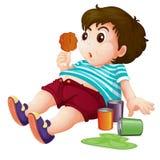 тучный малыш иллюстрация вектора