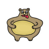 Тучный медведь Стоковое Изображение
