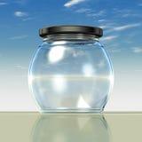 тучный стеклянный опарник Стоковое Изображение