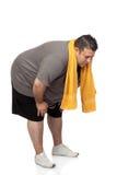 тучный человек играя спорт Стоковое Изображение RF