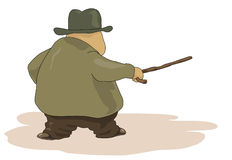 тучный человек старый Стоковое Изображение RF