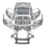 Туша af вид спереди автомобиль седана на белизне иллюстрация 3d бесплатная иллюстрация