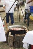 Тушёное мясо в баке на внешнем фестивале еды Стоковое Фото