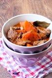 Тушёное мясо говядины и моркови Стоковое Изображение