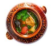 Тушёное мясо глиняного кувшина Стоковые Фото