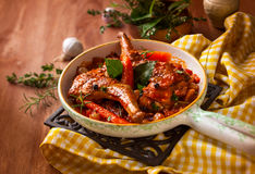 Тушёное мясо кролика стоковая фотография rf