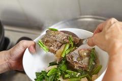 Тушёное мясо рыб Стоковое Фото