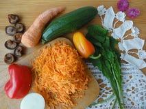 Тушёное мясо цукини варя с грибами и овощами стоковая фотография rf
