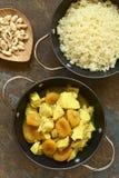 Тушёное мясо цыпленка и высушенного абрикоса с кускус Стоковые Фотографии RF
