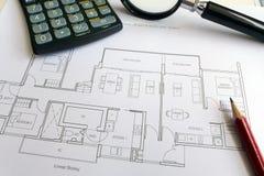 Тщательная принципиальная схема домашнего покупателя Стоковое фото RF