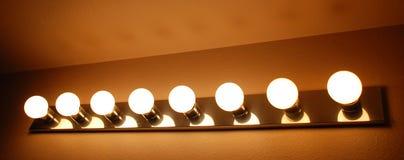тщета освещения ванной комнаты Стоковое фото RF
