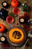 Тыква заполненная с мясом и овощами Стоковая Фотография RF