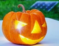 Тыква знак дня хеллоуина Стоковое Фото