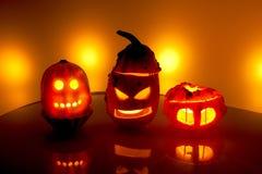 тыква изверга фонарика halloween головная Стоковые Изображения