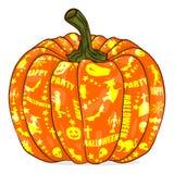 тыква изверга фонарика halloween головная Стоковая Фотография RF
