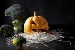 тыква изверга фонарика halloween головная Стоковое Фото