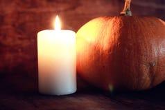 Тыква и свечи дня благодарений Стоковое Изображение
